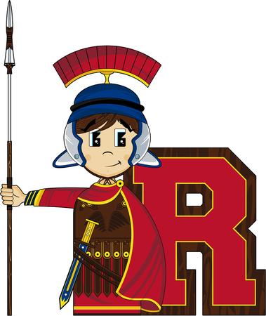 scheide: R ist für römische Alphabet Lernen Illustration