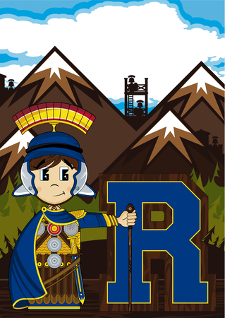 scabbard: R is for Roman Alphabet Learning Illustration