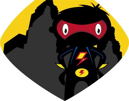 Cartoon Heroic Superhero Character