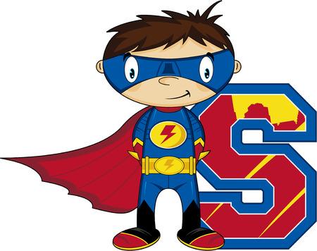 S is for Superhero Learning Illustration