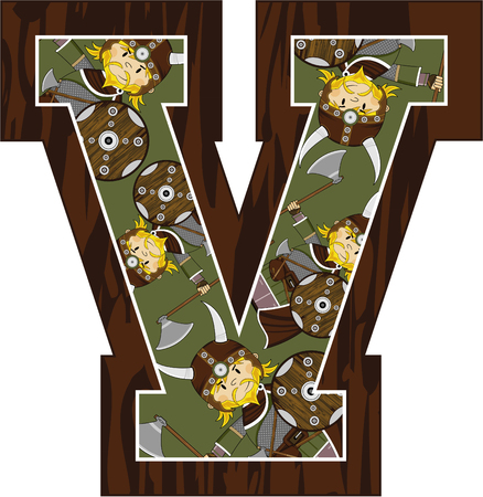 V is for Viking Learning Illustration