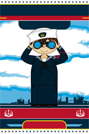 Cute Cartoon Navy Sailor