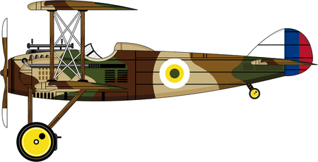 Classic Biplane Illustration