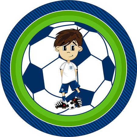 footy: Cartoon soccer football boy.
