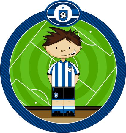 footy: Cartoon Soccer Football Boy