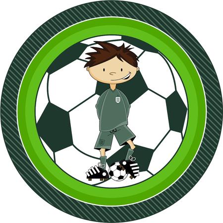 striker: Cartoon Soccer Football Goalkeeper Illustration