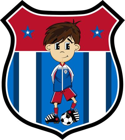 striker: Cartoon Soccer Football Player