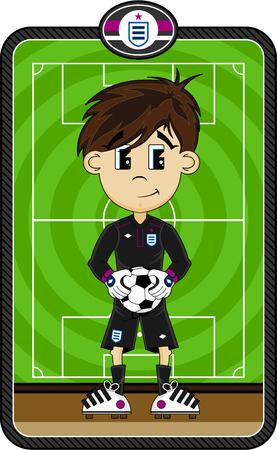 Cartoon Soccer Football Goalkeeper Illustration