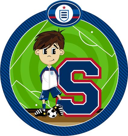 S is for Soccer Alphabet Learning Illustration Illustration