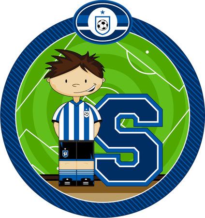 footy: S is for Soccer Alphabet Learning Illustration Illustration