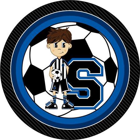 striker: S is for Soccer Alphabet Learning Illustration Illustration