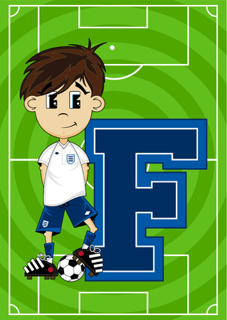 footy: F is for Football Alphabet Learning Illustration