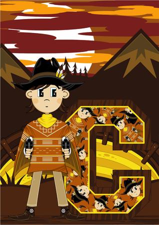 C is for Cowboy Learning Illustration Illustration