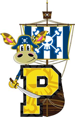 piracy: P is for Pirate Giraffe