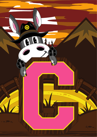 C is for Cowboy Donkey