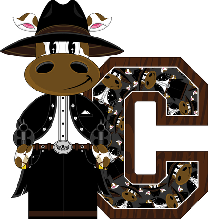 C is for Cowboy Cow