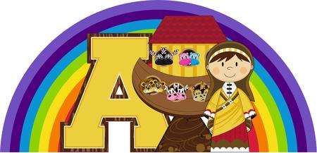 A is for Ark - Biblical Illustration