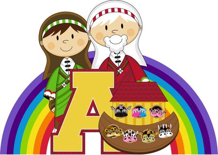A is for Ark - Ilustración Bíblica