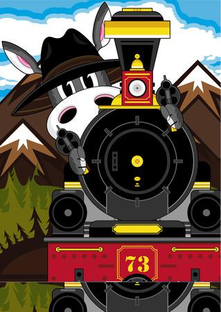 Wild West Donkey Cowboy & Train