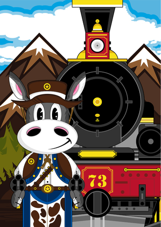Donkey Cowboy with Train