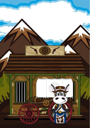 Cute Wild West Donkey Cowboy