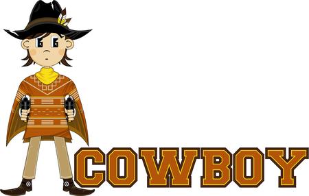 Cute Wild West Cowboy