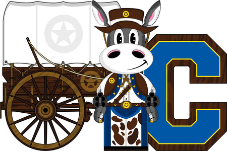 C is for Cowboy - Donkey