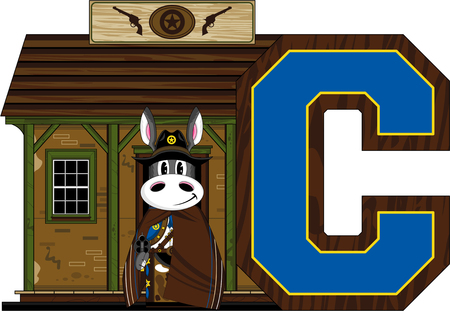 letter c: C is for Cowboy - Donkey