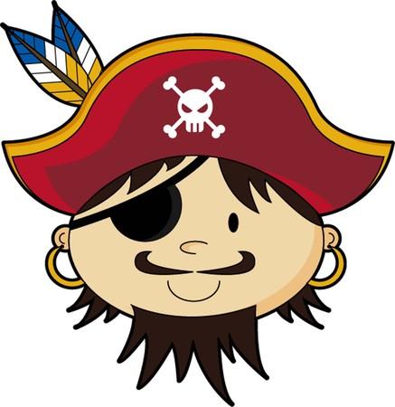 Cartoon Eyepatch Pirate Captain