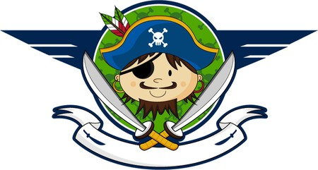 Cartoon Eyepatch Pirate Captain