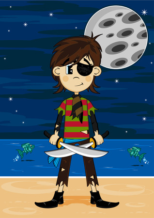 eyepatch: Cartoon Eyepatch Pirate Girl