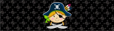 Cartoon Pirate Girl