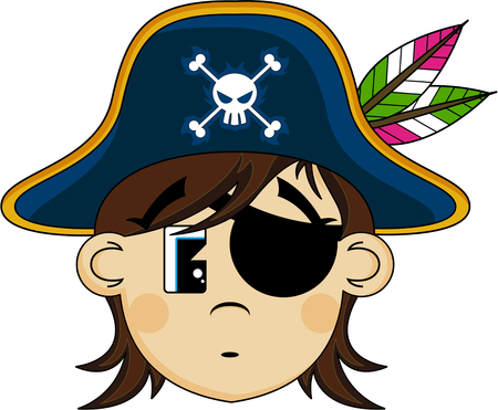 eyepatch: Cartoon Eyepatch Pirate Captain