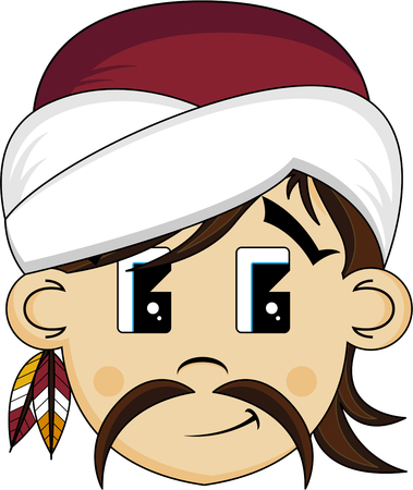 Cartoon Turban Pirate