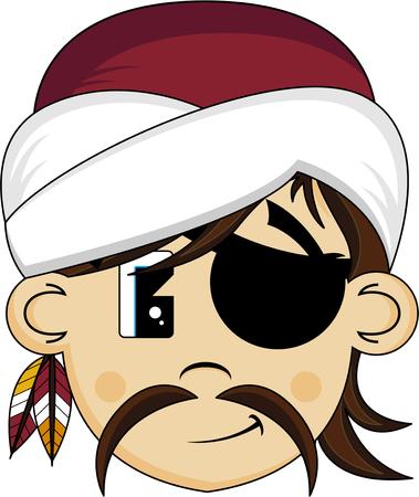 Cartoon Turban Pirate
