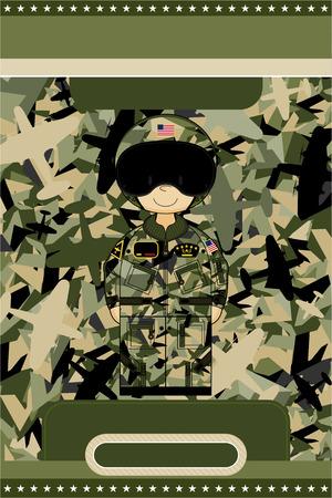 Cartoon Air Force Pilot