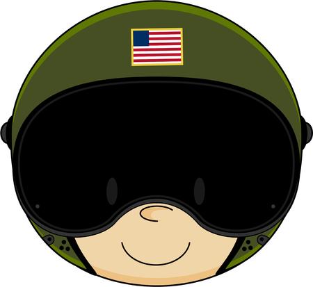 airforce: Cute Cartoon Airforce Pilot