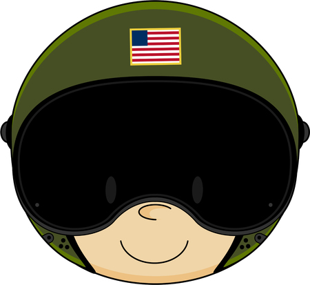 Cute Cartoon Airforce Pilot