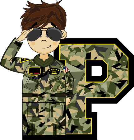 P is for Pilot - Air Force Illustration