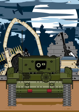 Army Tank Illustration Иллюстрация