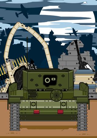 Army Tank Illustration Illustration