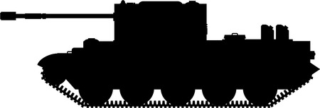 Army Tank in Silhouette