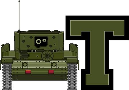 T is for Tank Çizim