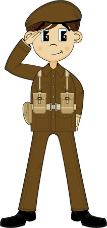 WW1 Style Army Soldier Illustration
