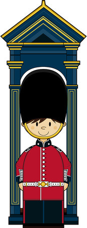 Cartoon British Royal Palace Guard