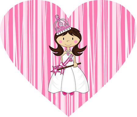 Cute Royal Fairytale Princess Ilustracja