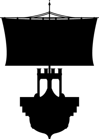 roman empire: Roman Warship in Silhouette