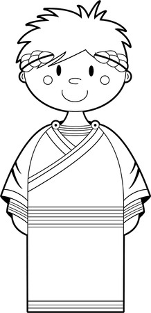 Cartoon Ancient Roman Emperor