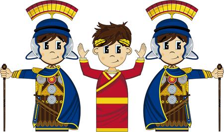 Soldados romanos y emperador