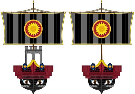 ローマの軍艦の図 写真素材 - 81870193